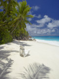Adirondack Chair and Tropical Beach, Seychelles, Indian Ocean, Africa Photographic Print by Sakis Papadopoulos
