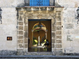 Entrance of Casa Del Conde De Casa Bayona, Now the Museum of Colonial Art, Old Havana, Cuba Photographic Print by John Harden