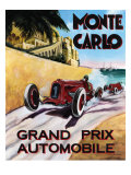 Monte Carlo Grand Prix Giclee Print by Chris Flanagan