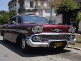 Classic Chevrolet Impala Saloon Car, Vedado, Havana, Cuba, West Indies, Central America Photographic Print by John Harden