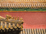 Close-Up of an Ornate Roof, Forbidden City, UNESCO World Heritage Site, Beijing, China Photographic Print by John Woodworth