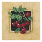 Cherry Square Giclee Print by Barbara Mock