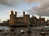 Caernarfon Castle, Caernarfon, UNESCO World Heritage Site, Wales, United Kingdom, Europe Photographic Print by John Woodworth