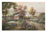 Razzberry Creek Crossing Premium Giclee Print by Carl Valente