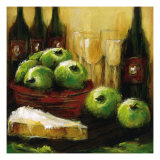 Apples and Brie Giclee Print by Christina Doelling