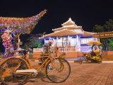 Rickshaw at the Tourist Office, Melaka (Malacca), Melaka State, Malaysia, Southeast Asia, Asia Photographic Print by Christian Kober