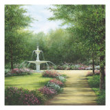 Park Fountain Giclee Print by Lene Alston Casey