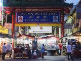 Chinese Gate at Petaling Street Market, Chinatown, Kuala Lumpur, Malaysia, Southeast Asia, Asia Photographic Print by Christian Kober