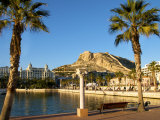 Santa Barbara Castle Seen from the Harbour, Alicante, Valencia Province, Spain, Europe Photographic Print by Guy Thouvenin