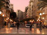 Mendez Nunez Rambla in the Evening, Alicante, Valencia Province, Spain, Europe Photographic Print by Guy Thouvenin