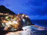 Clifftop Village of Manarola, Cinque Terre, UNESCO World Heritage Site, Liguria, Italy, Europe Photographic Print by Christian Kober