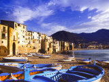 Fishing Boats on the Beach, Cefalu, Sicily, Italy, Mediterranean, Europe Photographic Print by Sakis Papadopoulos