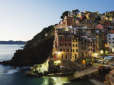 Clifftop Village of Riomaggiore, Cinque Terre, UNESCO World Heritage Site, Liguria, Italy, Europe Photographic Print by Christian Kober