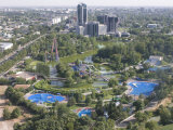 View over Tashkent from the TV Tower, Tashkent, Uzbekistan, Central Asia Photographic Print by Michael Runkel