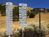 Winery Signs, Santa Ynez Valley, Santa Barbara County, Central California Photographic Print by Richard Cummins