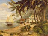 Key West Hideaway Premium Giclee-trykk av Enrique Bolo
