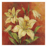 Crimson Lilies I Giclee Print by Barbara Mock