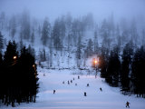 Pyha-Luosto Ski Resort at Dusk, Finnish Lapland, Finland, Scandinavia, Europe Photographic Print by Michael Kelly