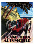 Monaco Grand Prix Posters by Chris Flanagan