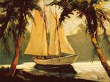 Sailboat, Santa Barbara Premium Giclee-trykk av Frederick Pawla