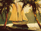 Sailboat, Santa Barbara Art by Frederick Pawla