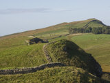 Wall East to Steel Rigg and Windshields Crag, Hadrians Wall, Northumberland, England Photographic Print by James Emmerson