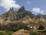Rocky Landscape with Farm Buildings, Santiago, Cape Verde, Africa Photographic Print by Michael Runkel