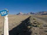 Pamir Highway, the Pamirs, Tajikistan, Central Asia Fotografisk trykk av Michael Runkel