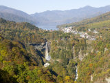 Chuzenji Lake and Kegon Falls, 97M High, Nikko, Honshu, Japan Photographic Print by Tony Waltham