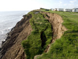 Coastal Erosion with Active Landslips in Glacial Till, Holderness Coast, Humberside, England Photographic Print by Tony Waltham