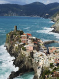 Clifftop Village of Vernazza, Cinque Terre, UNESCO World Heritage Site, Liguria, Italy, Europe Photographic Print by Christian Kober