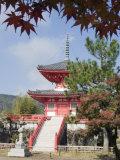 Autumn Colours at Daikaku Ji (Daikakuji) Temple, Dating from 876, Sagano Area, Kyoto, Japan, Asia Photographic Print by Christian Kober