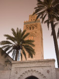 Minaret of the Koutoubia Mosque, UNESCO World Heritage Site, Marrakesh (Marrakech), Morocco, North  Photographic Print by Nico Tondini