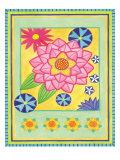 Mod Flower 4 Posters by Jennifer Brinley
