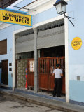 Bodeguita Del Medio, in Calle Obispo in Historic Centre, Havana, Cuba Photographic Print by John Harden
