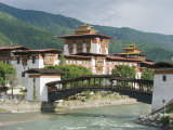 Punakha Dzong Dating from 1637, Punakha, Bhutan, Asia Photographic Print by Christian Kober