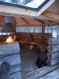 Child Keeping Warm, Pyha-Luosto Ski Resort, Finnish Lapland, Finland, Scandinavia, Europe Photographic Print by Michael Kelly