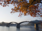 Autumn Colours at Kintaikyo Bridge, Iwakuni, Yamaguchi Prefecture, Japan, Asia Photographic Print by Christian Kober