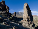 Giant Rock Formations in Front of the Volcano El Teide, Tenerife, Canary Islands, Spain, Europe Photographic Print by Michael Runkel