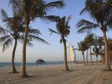 Jumeirah Beach and the Burj Al Arab Hotel, Dubai, United Arab Emirates, Middle East Photographic Print by Amanda Hall