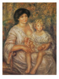 Mother and Child Premium Giclee Print by Pierre-Auguste Renoir