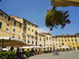 Piazza Anfiteatro, Lucca, Tuscany, Italy, Europe Photographic Print by Nico Tondini