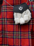 Scottish Kilt and Purse on Display for Sale, Edinburgh, Scotland, United Kingdom, Europe Photographic Print by Richard Maschmeyer