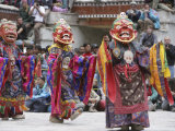 Lamas Dancing at the Hemis Festival, Ladakh, India, Asia Photographic Print by James Gritz