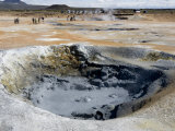 Boiling Mud Pool, Namafjall Geothermal Area, Near Lake Myvatn, Iceland, Polar Regions Photographic Print by Tony Waltham