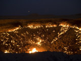 Darvaza Gas Crater in the Karakol Desert, Turkmenistan, Central Asia, Asia Photographic Print by Michael Runkel