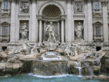 Trevi Fountain by Nicola Salvi Dating from the 17th Century, Rome, Lazio, Italy, Europe Photographic Print by Godong 