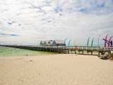 Busselton Jetty Built for the Logging Trade, Now a Tourist Attraction, Busselton, Western Australia Photographic Print by Robert Francis