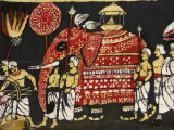 Cloth Print Depicting the Sacred Buddha Tooth Relic in the Perahera in Kandy, Sri Lanka, Asia Photographic Print by  Godong