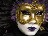 Mask at Venice Carnival, Venice, Veneto, Italy, Europe Photographic Print by Carlo Morucchio